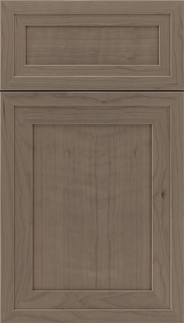 Asher 5pc Cherry flat panel cabinet door in Winter
