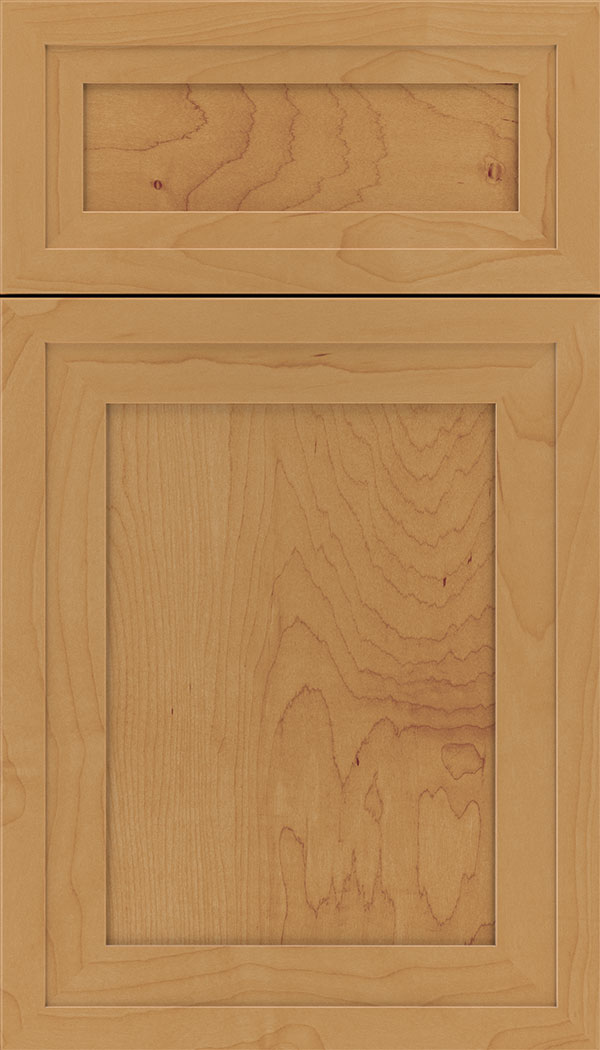 Asher 5pc Maple flat panel cabinet door in Ginger