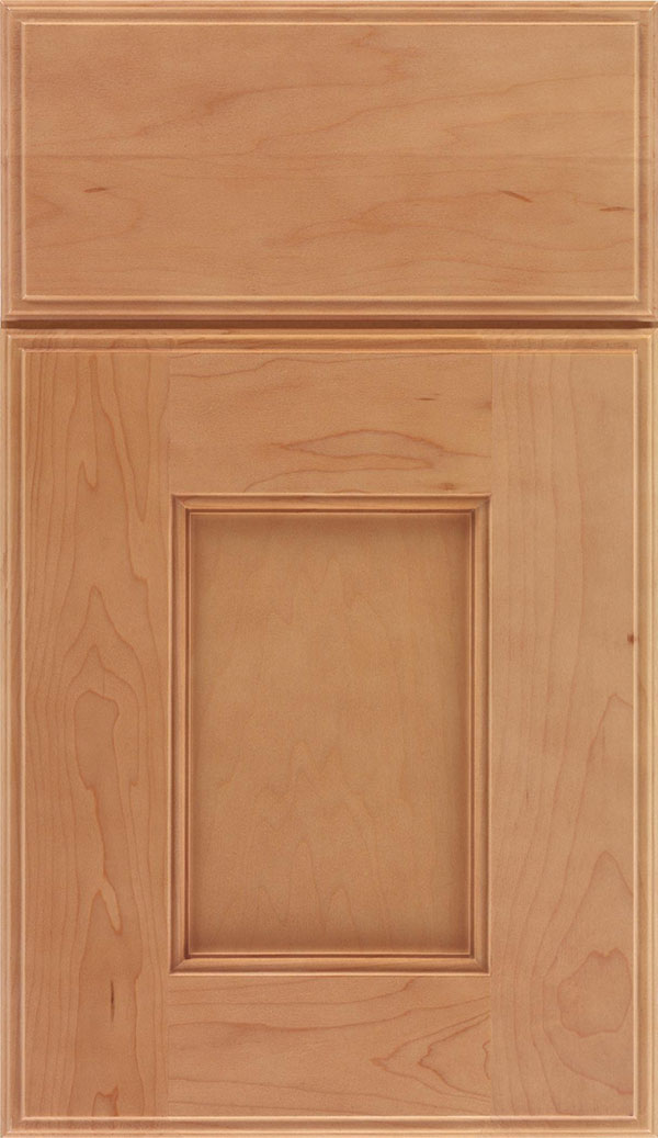 Berkeley Maple flat panel cabinet door in Ginger