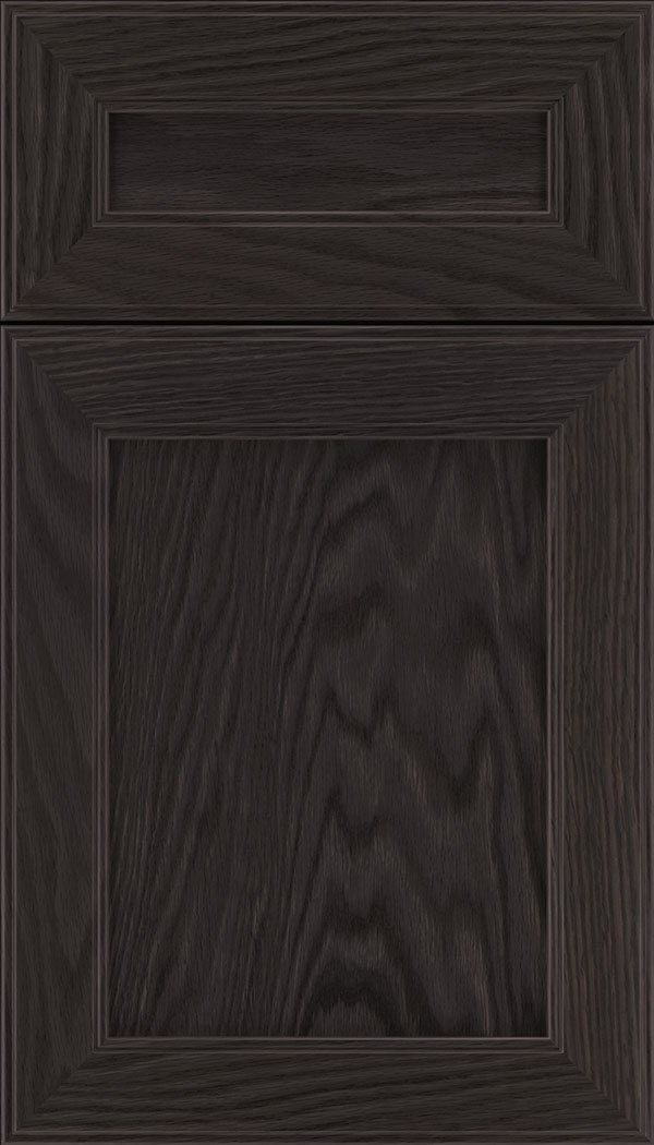 Chelsea 5pc Oak flat panel cabinet door in Espresso