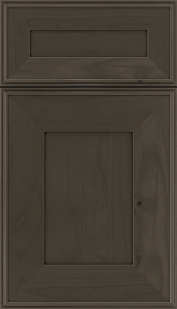 Elan 5pc Alder flat panel cabinet door in Thunder with Black glaze