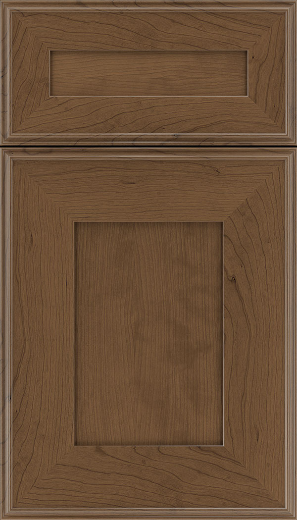 Elan 5pc Cherry flat panel cabinet door in Toffee