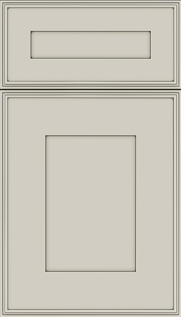 Elan 5pc Maple flat panel cabinet door in Cirrus with Smoke glaze