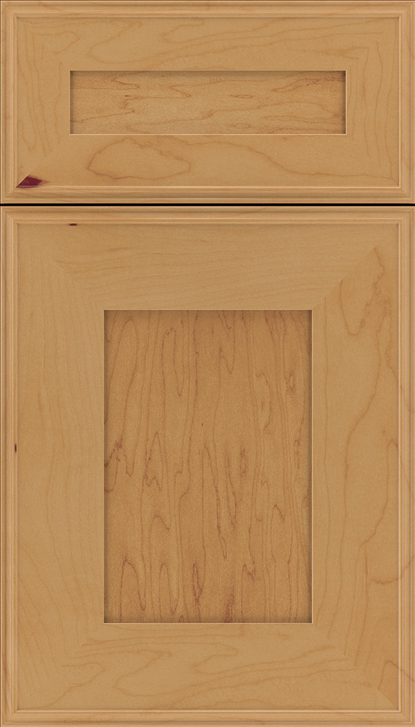 Elan 5pc Maple flat panel cabinet door in Ginger