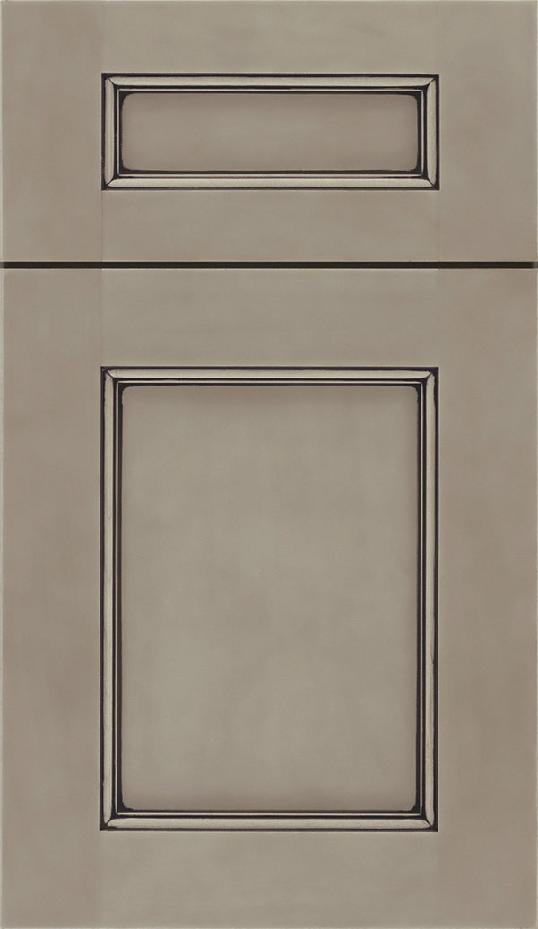 Lexington 5-Piece Maple recessed panel cabinet door in Portabello
