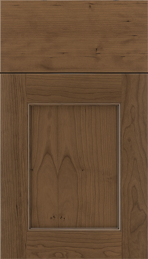 Lexington Cherry recessed panel cabinet door in Toffee
