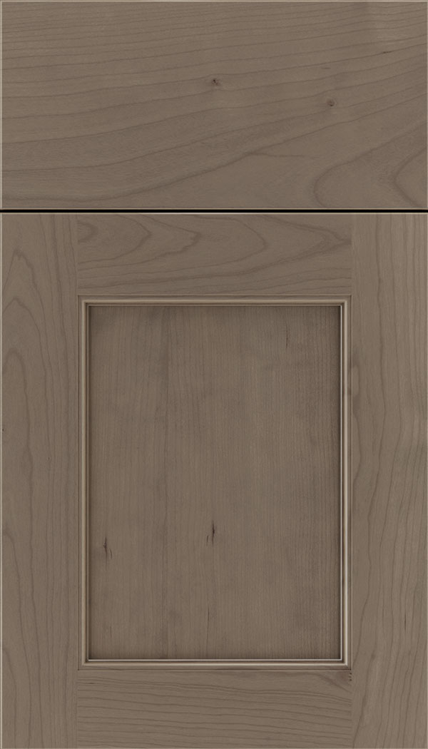 Lexington Cherry recessed panel cabinet door in Winter