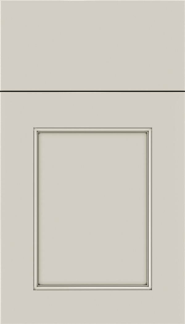 Lexington Maple recessed panel cabinet door in Cirrus with Smoke glaze