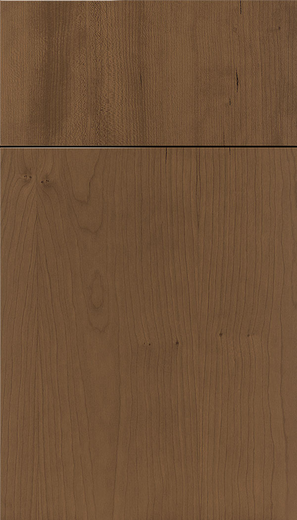 Lockhart Cherry slab cabinet door in Toffee
