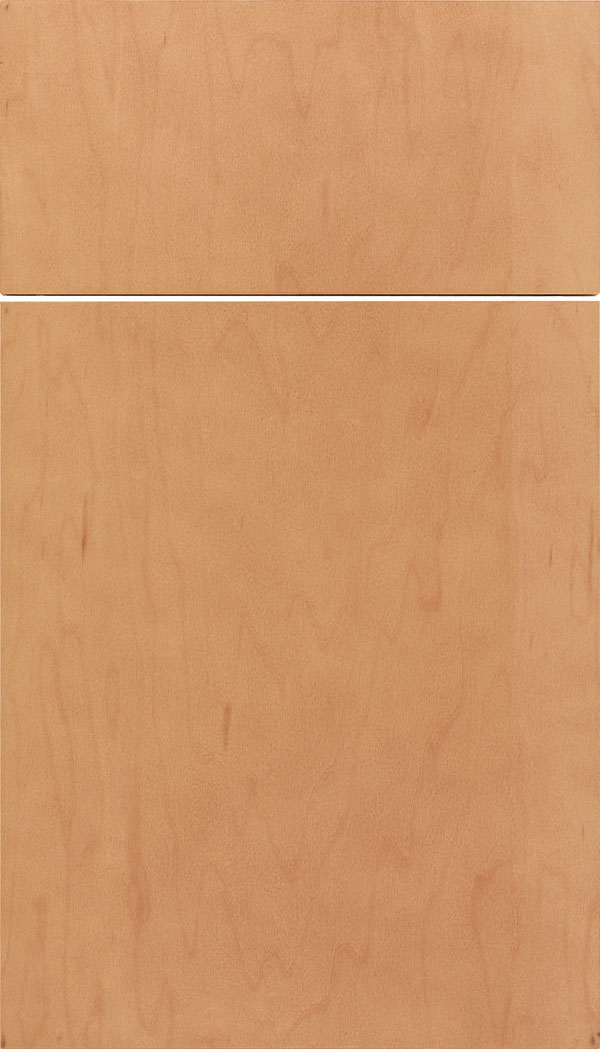 Lockhart Maple slab cabinet door in Ginger