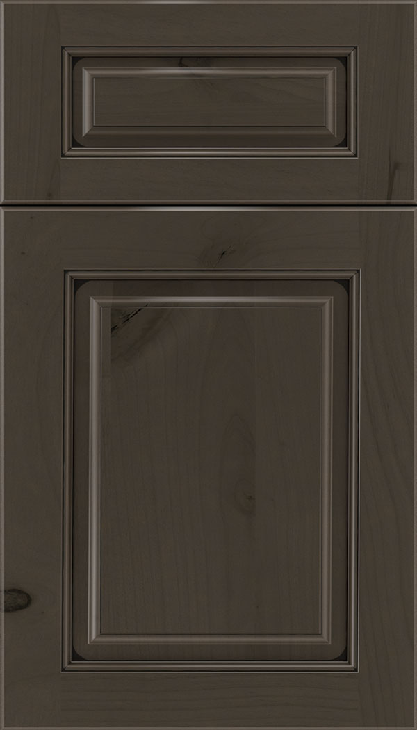 Marquis 5pc Alder raised panel cabinet door in Thunder with Black glaze