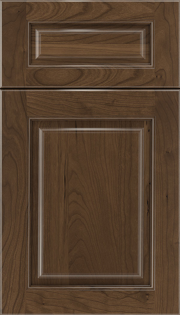 Marquis 5pc Cherry raised panel cabinet door in Toffee