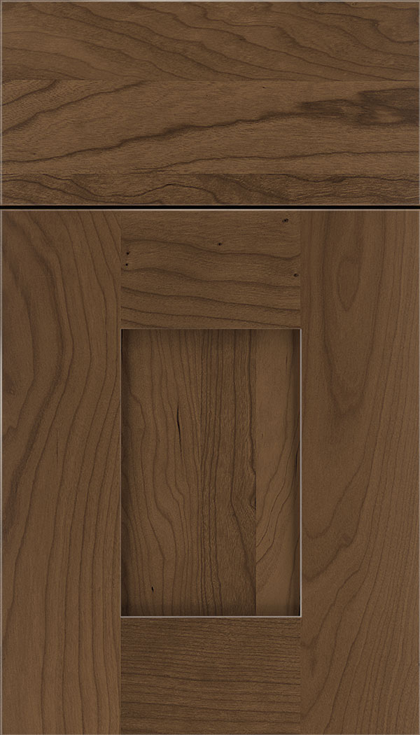 Newhaven Cherry shaker cabinet door in Toffee