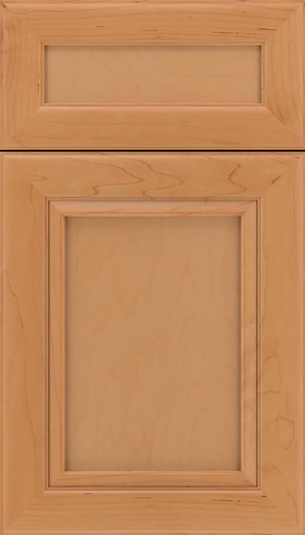 Paloma 5pc Maple flat panel cabinet door in Ginger