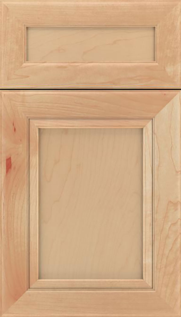Paloma 5pc Maple flat panel cabinet door in Natural