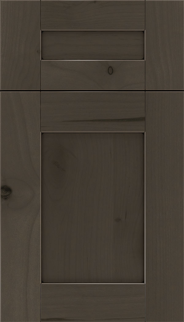 Pearson 5pc Alder flat panel cabinet door in Thunder with black glaze
