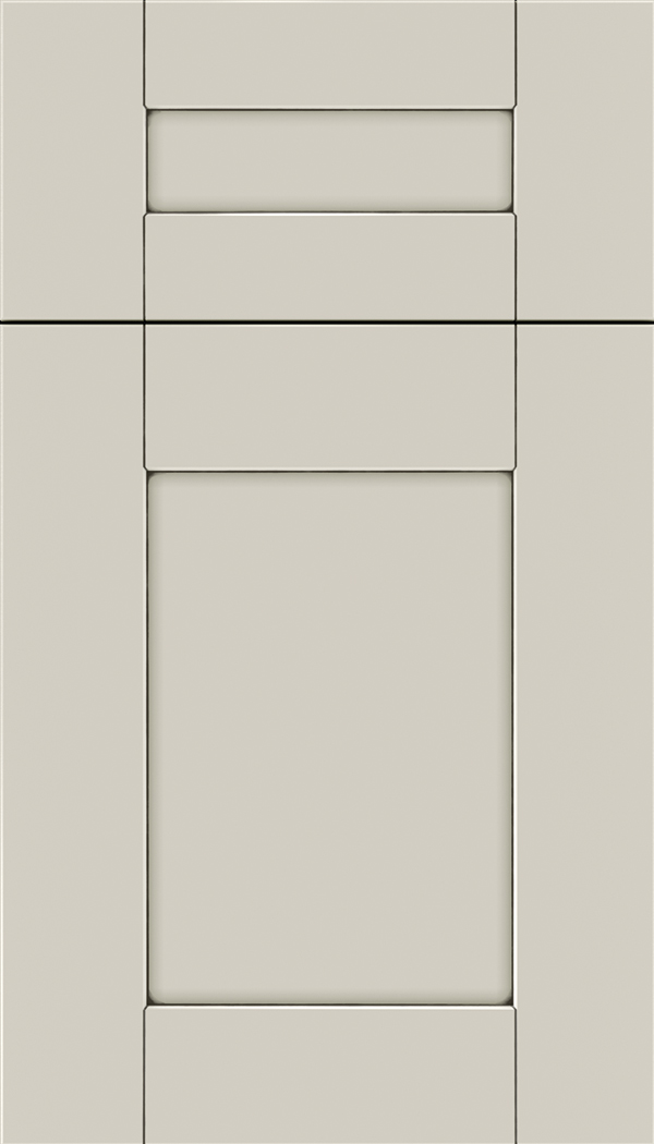 Pearson 5pc Maple flat panel cabinet door in Cirrus with Smoke glaze