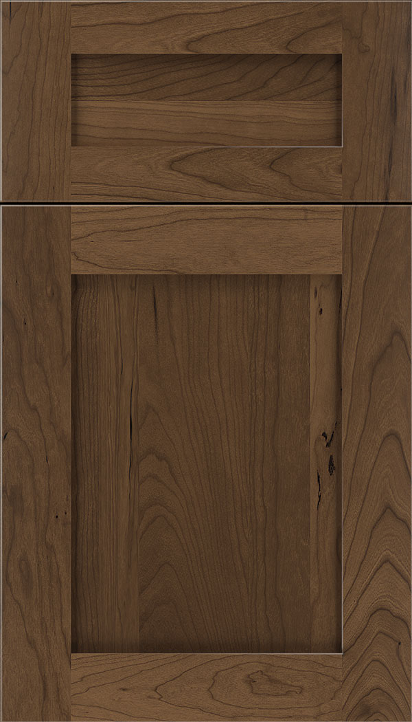Plymouth 5pc Cherry shaker cabinet door in Toffee