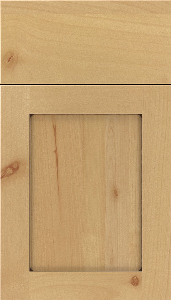 Plymouth Alder shaker cabinet door in Natural with Mocha glaze