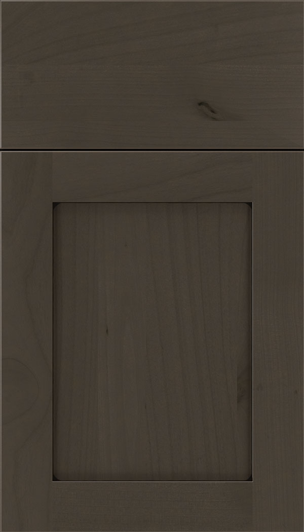 Plymouth Alder shaker cabinet door in Thunder with Black glaze