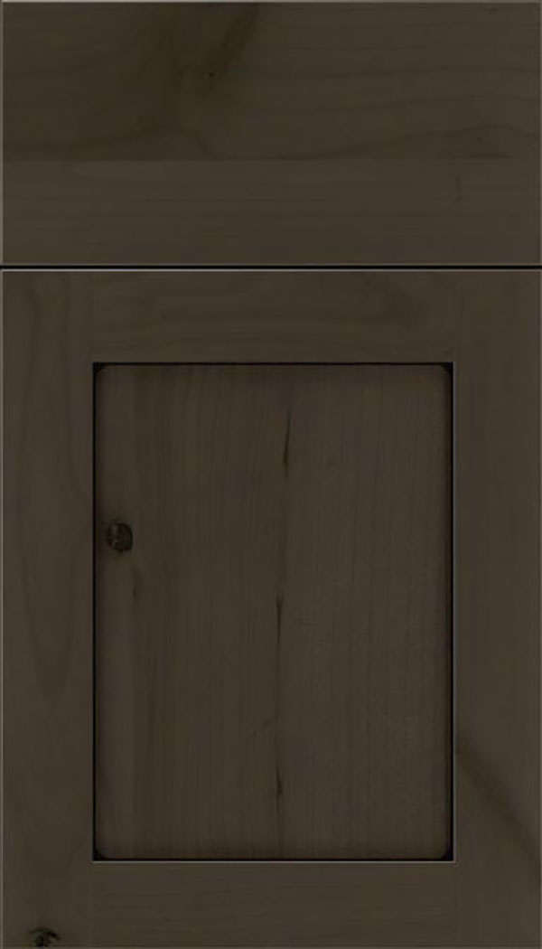 Salem Alder shaker cabinet door in Thunder with Black glaze