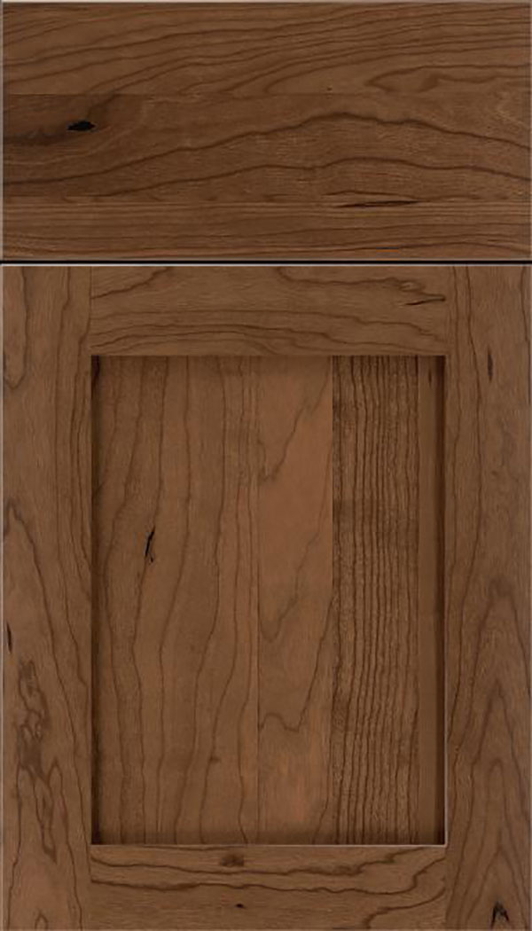 Salem Cherry shaker cabinet door in Toffee