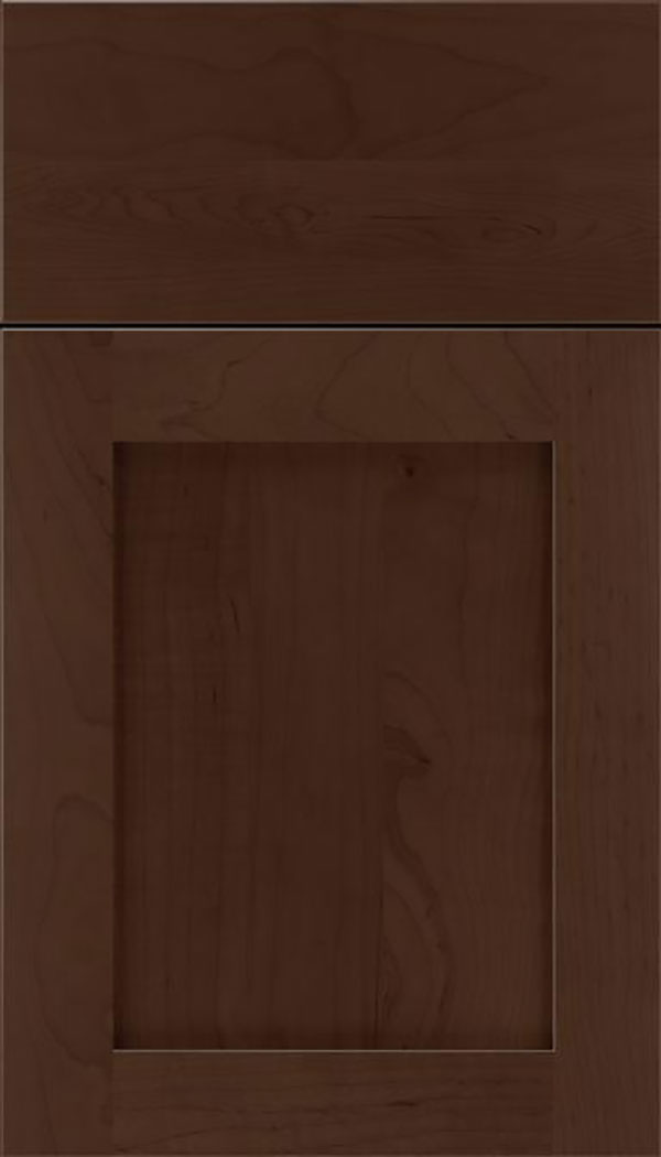 Salem Maple shaker cabinet door in Cappuccino