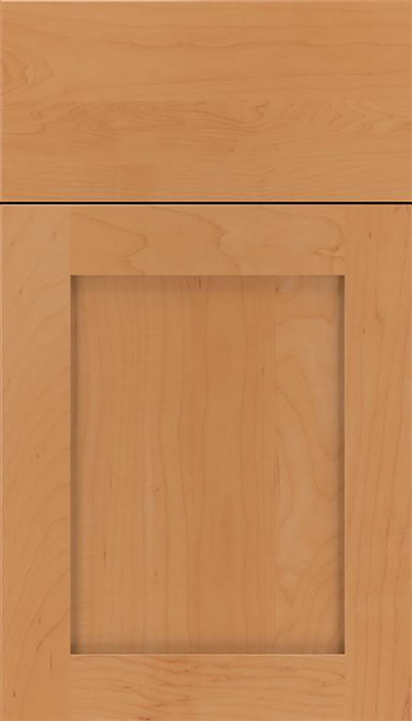 Salem Maple shaker cabinet door in Ginger