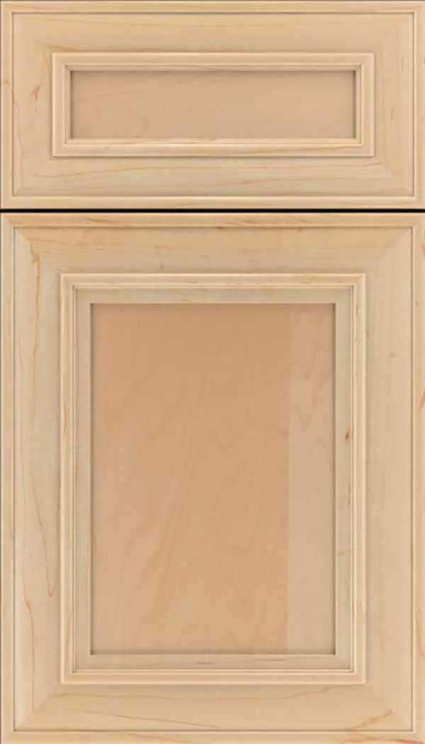 Sheffield 5pc Maple recessed panel cabinet door in Natural