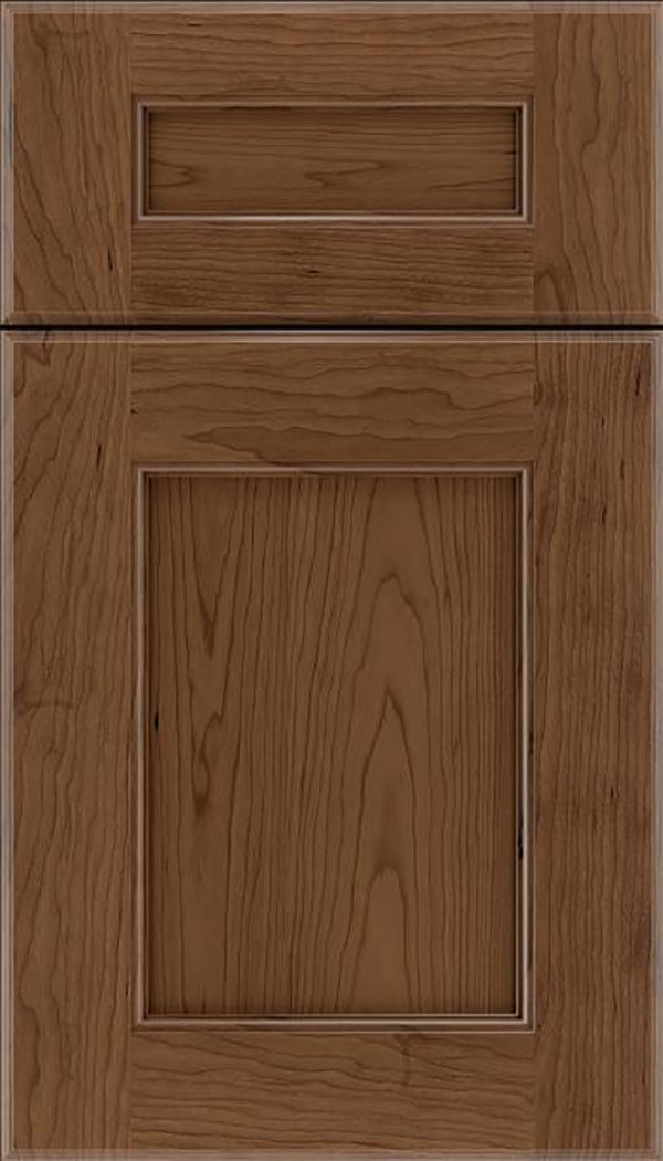 Tamarind 5pc Cherry shaker cabinet door in Toffee