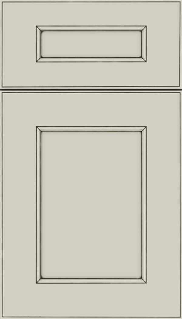 Tamarind 5pc Maple shaker cabinet door in Cirrus with Smoke glaze