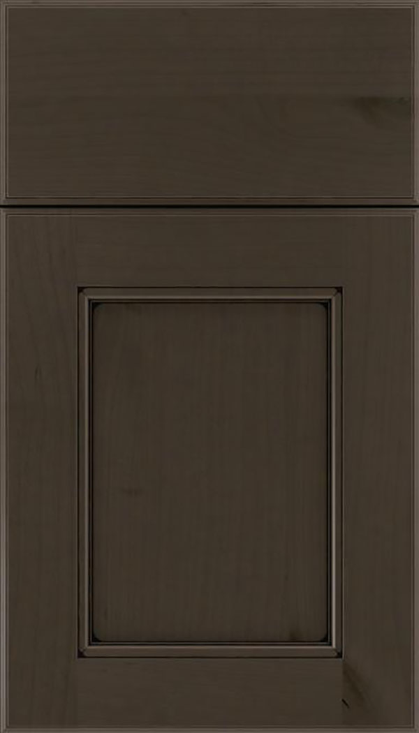 Tamarind Alder shaker cabinet door in Thunder with Black glaze