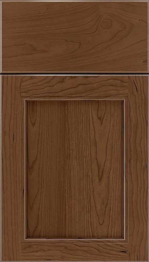 Templeton Cherry recessed panel cabinet door in Toffee