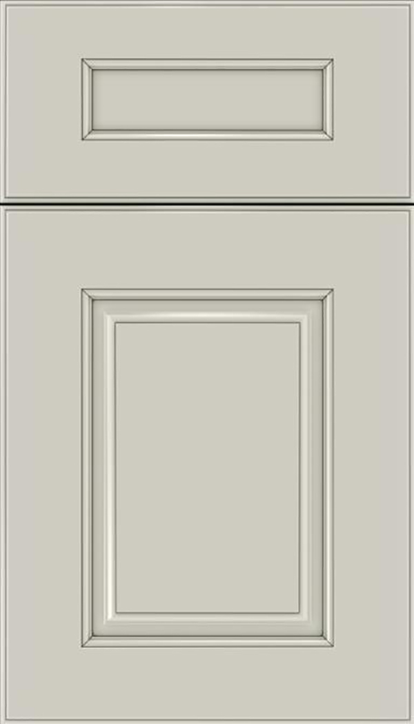Whittington 5pc Maple raised panel cabinet door in Cirrus with Smoke glaze