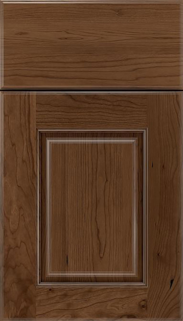 Whittington Cherry raised panel cabinet door in Toffee