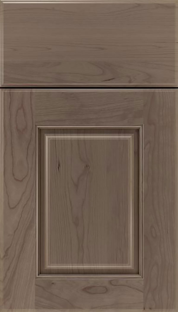 Whittington Cherry raised panel cabinet door in Winter