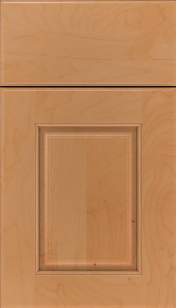 Whittington Maple raised panel cabinet door in Ginger