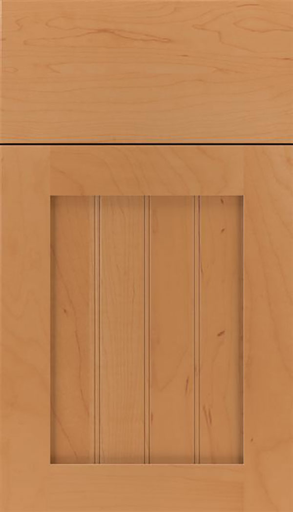 Winfield Maple beadboard cabinet door in Ginger