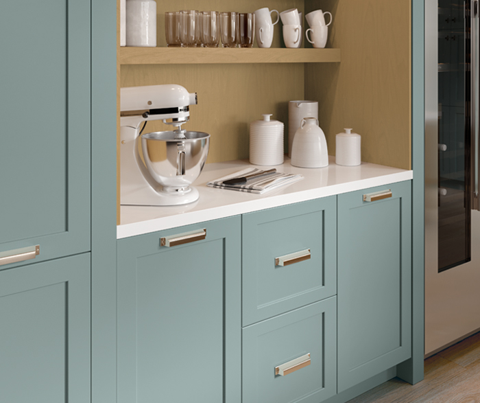 Watery Blue Scandi Inspired Kitchen Cabinets