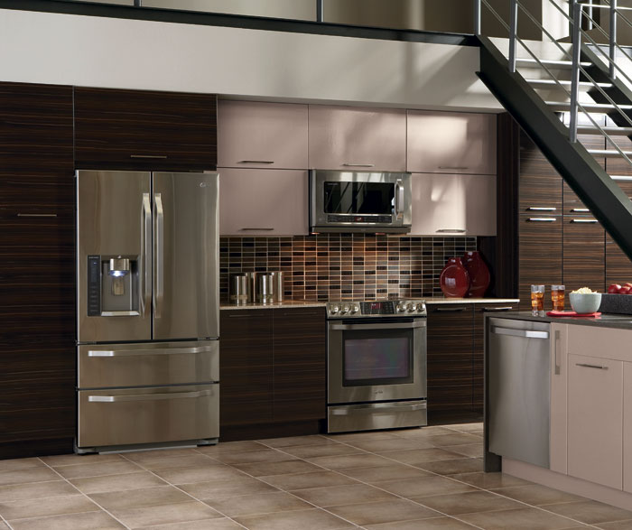 kitchen craft cabinet woodgrain palermo high gloss thermofoil kitchen craft 21617